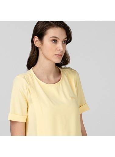 Lacoste Kadın Kısa Kollu Bluz QF0106.06Z Sarı